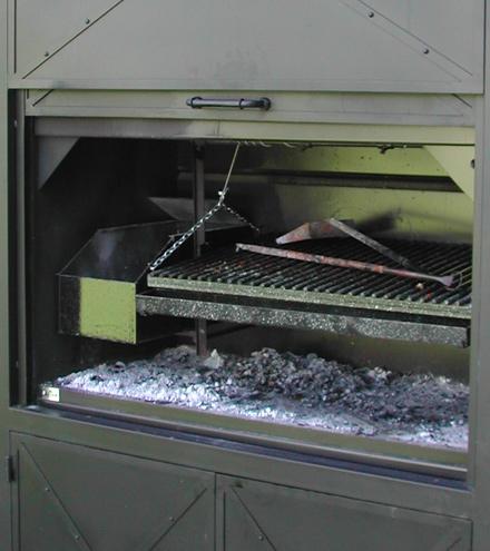 Parrilla en placas de acero
